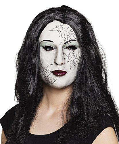 Fancy Ole - Halloween Kostüm Latex Maske mit Haaren Zombie Mädchen Girl Erwachsenen Maske, (Girl Halloween Kostüm Alien)
