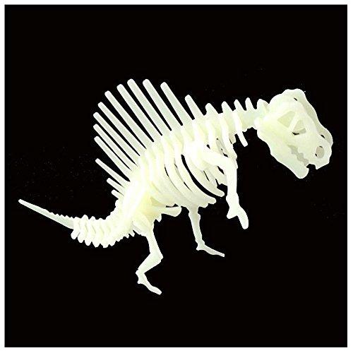 Aolvo 3D Dinosaurier Puzzle, Dinosaurier Skelett Puzzle Glow in The Dark, Ausgezeichnete Lehrreiches Geschenk für Kinder und Erwachsene (31,5x 19,8cm)