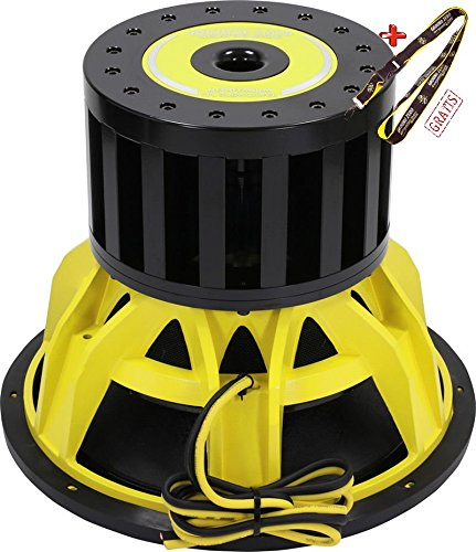 Spl 15 Subwoofer (Ground Zero GZPW 15NEO-SPL, 38cm HIGH END SPL Subwoofer, 2 x 1 Ohm 20 000 Watt SPL)