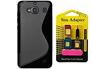 Xiaomi Redmi 2s, Wellmart Back Case Cover Combo Offer For Xiaomi Redmi 2s + Metal Sim Card Adapter (Super Saver)