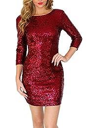 Samber Vestidos de Fiesta para Mujer Vestidos con Lentejuelas de Moda para Mujer Faldas Atractivas de