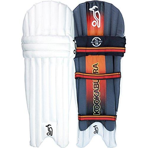 KOOKABURRA Blaze 150Herren Kinder Cricket Batting Pads Beinschützer weiß/schwarz/rot, unisex, weiß