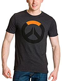 Overwatch Men T-Shirt Game Logo XL Grey