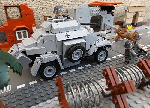 Cobi 2366 Sonderedition – Panzerspähwagen Sd.Kfz. 222 inkl. custom Wehrmacht Soldat aus original Lego© Teilen - 2