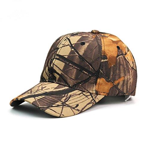 Rawdah Unisex Hombres Mujeres Gorra de béisbol deporte sol adjustable Hat (D)
