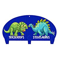Next Innovations Dinosaur Friends Three Hook Coat Rack