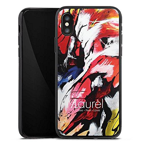 Apple iPhone X Silikon Hülle Case Schutzhülle Laurèl Art Phone Laurel Silikon Case schwarz