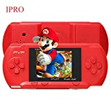 IPRO 8 Bit Video Konsolenspiele Handheld Game Console mit 100 kinds Retro Portable Video Spiels Konsole mit Angry Birds ,Battle City,BomberMan (Rote)