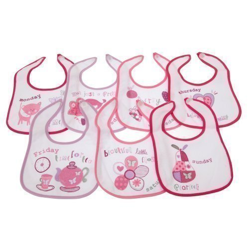 1cb73f072cd3 Baby Patterned 7 Days Of The Week Bibs in Boys   Girls Options (Pack of 7)  (0-6 Months) (Pink)