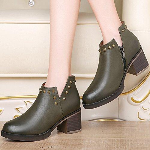 XTIAN - Stivali con le frange Donna Armee-Grün