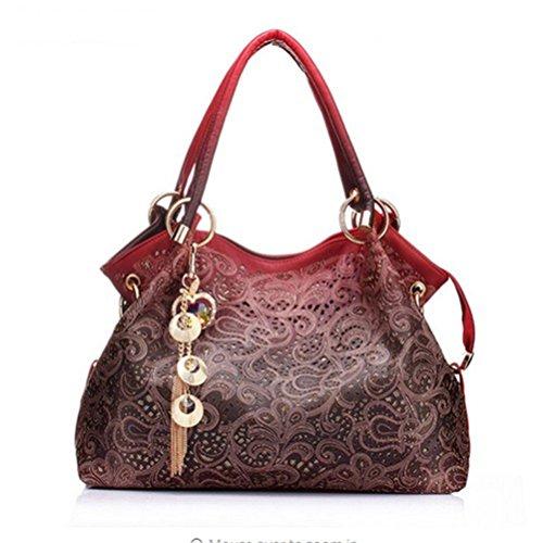 Honeymall Borse Donna,Borsa Tote Borsa Moda Eleganti Rosso