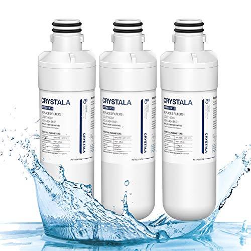 LT1000p LG Kühlschrank-Wasserfilter, Ersatz C10, kompatibel mit LG LT1000P, LT1000PC, LT-1000PC, MDJ64844601, Kenmore 46-9980, 9980, ADQ74793501, ADQ74793502, Crystala-Filter, NSF42 3 PACK weiß