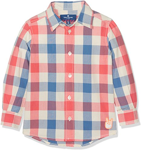 TOM TAILOR Kids Jungen Hemd Multi Colour Shirt, Mehrfarbig (Hot Sand 2613), 98 (Herstellergröße: 92/98)