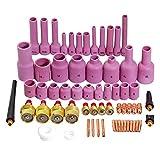TIG obiettivo Gas Cappellino Collet corpo assortiti formato misura DB SR WP9 20 25 TIG torcia 63 pezzi