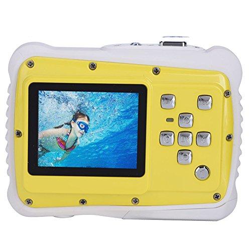 Top Unterwasser Action Kamera für Kinder mit 5,1cm TFT LCD-Bildschirm Hd720P 12MP (Interpolation Pixel) Wasserdicht Digital Staubdicht Camcorder Schwimmen Tauchen und bleichverfahren (gelb) (Flash Lcd Zoom)