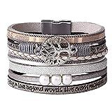 Boho Multicouche Cuir Wrap Bracelets Magnifique À La Main Tressé Wrap Manchette Magnétique Boucle Casual Bracelet Pour Femmes Et Fille Cadeau par UEUC
