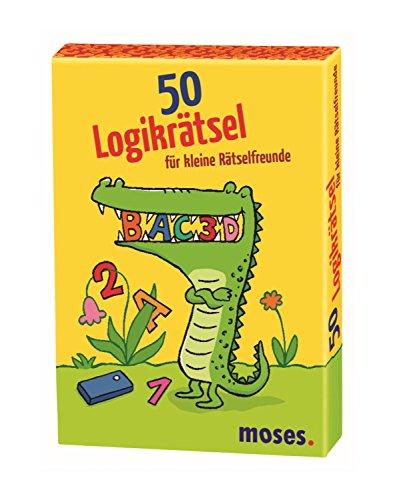 moses. 50 Logikrätsel für kleine Rätselfreunde | Kinderbeschäftigung | - Karte Und Spielen überall