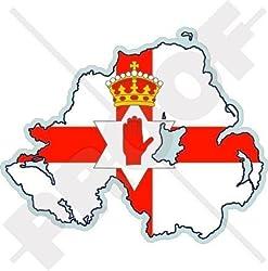 NORDIRLAND Karte-Flagge ULSTER Britisches Großbritannien UK 100mm Auto & Motorrad Aufkleber, Vinyl Stickers