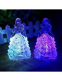 Reixus (TM) Princesse cristal acrylique Jouets Veilleuse filles b¨¦b¨¦ Nouveaut¨¦ et d¨¦licat sommeil lumi¨¨res multicolores Lumi¨¨res Jouets