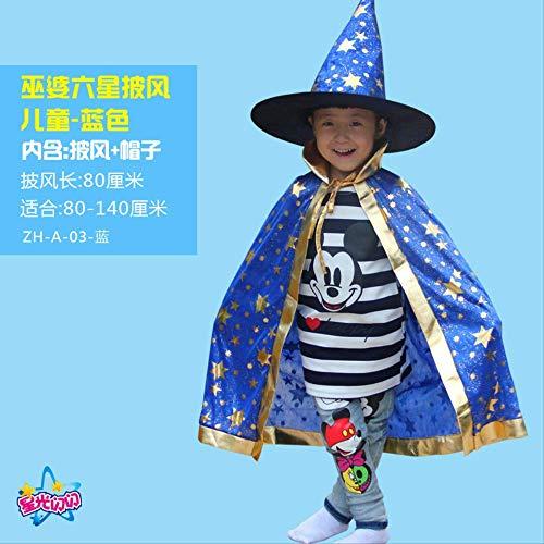 KOWSXFTGB Halloween Kinder Umhang Kürbis Kleid Jungen Und Mädchen Kindergarten Zeigen Kostüm Tanz Kostüm Hexe 80Cm Pro (Pro Tanz Kostüm)