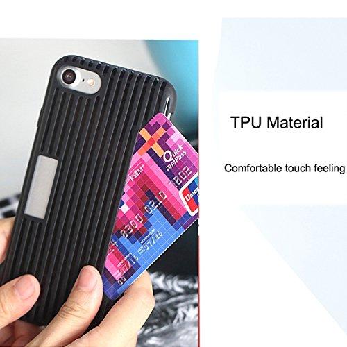 iPhone Case Cover Rock pour iPhone 7 Tridimensionnel Texture Soft TPU Étui de protection avec fente pour carte ( Color : Black ) Black