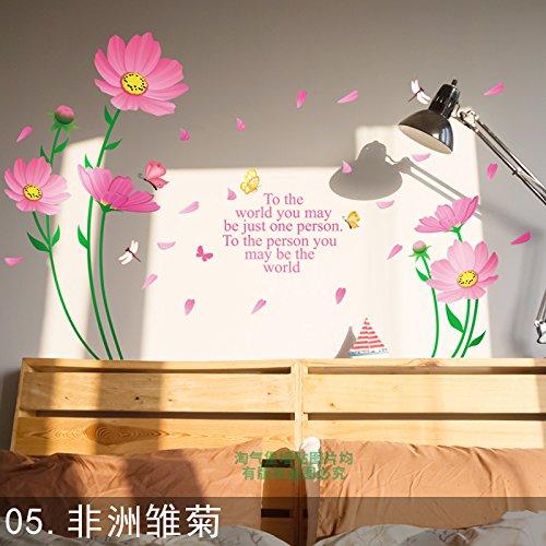 GOUZI Schlafsofa Wand-TV Hintergrund Wanddekoration crystal lily Blumen ,05 Kapkörbchen, abnehmbare Wall Sticker für Schlafzimmer Wohnzimmer Hintergrund Wand Bad Studie Friseur