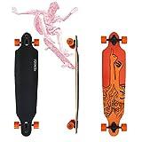 VINGO® Skater Longboard Street Freeride Longboard (Dita arancione longboard)