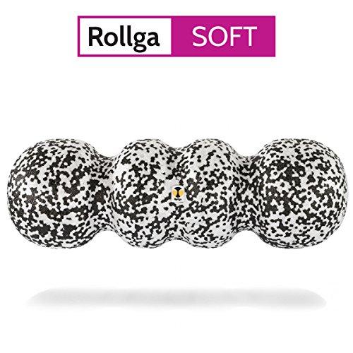 Rollga Faszienrolle, SOFT, schwarz-weiß – 45 cm, patentierte 4-Zonen-Formung