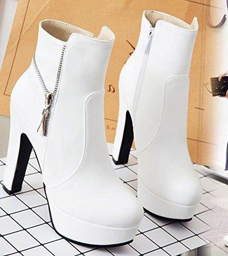 Stivali Sexy Tacco Eclair Aisun Bianco Alto Chiusura Di Blocco Donna wqvPRI6