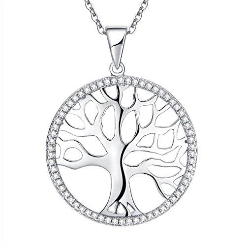 ATMOKO Collar Mujer, Árbol de la Vida, Plata de Ley 925, Regalo Perfecto de Mujer y Niña, para Mamá, Esposa, Novia, Hermanas