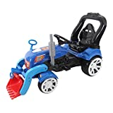 Radlader Bagger 110cm Kindertraktor Trettraktor Tretauto Tretfahrzeug Traktor (blau)