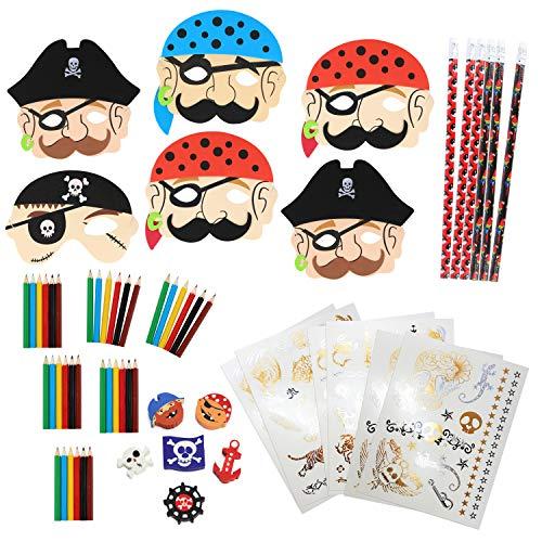 COM-FOUR® 60-teiliges Piraten Mitgebsel Set für Kindergeburtstage (060-teilig - ()
