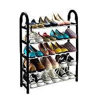 KEPLIN® 5 Tier 15 Pairs Shoe Stand Storage Organiser Rack Lightweight Compact