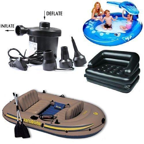 Piyuda AC Electric Vacuum Air Pump - Quickly Inflates / Deflates Sofa, Bed, Swimming Pool Tubes, Toys,Air Bags, Mattresses