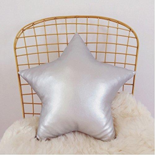 pillow Cortex Pearlescent Star Love Herz Kissen Geeignet für Home Sweet Heart Kissen Ins Einfache Sofa Car Office Kissen Schwarz Gold Rot Weiß Gelb ( Farbe : Silber , größe : 50cmx50cm ) (Schwarz Und Rot-sofa-kissen)