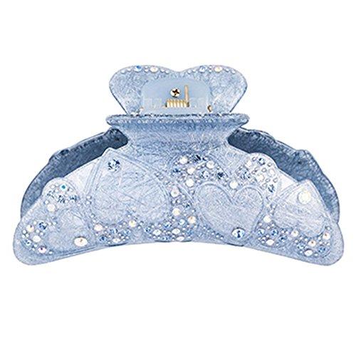 Bleu Clips de cristal acrylique coréenne cheveux Peigne Clips élégant Barrette