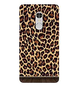 OBOkart Leopad Wallpaper 3D Hard Polycarbonate (Plastic) Designer Back Case Cover for Xiaomi Redmi Note 4