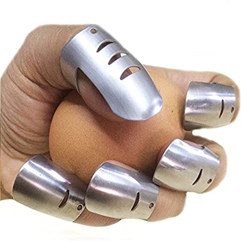 Hand Guard Finger Protector, Adjustable Stainless Steel Knife Slicer Cutter , Avoid Hurting While Cutting Chopping Slicing Kitchen Safety Chopping