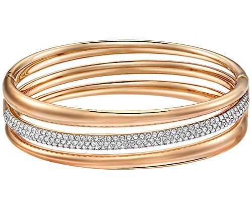 Swarovski donna-Bracciale Exact acciaio inox cristallo trasparente 6,20 cm - 52215642
