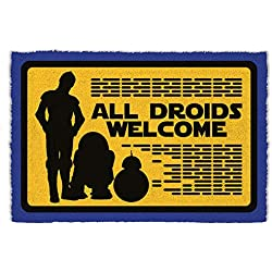 Star Wars - All Droids Welcome Felpudo Alfombra (60 x 40cm)
