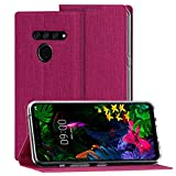 Foluu for LG G8S ThinQ Case, Flip Folio Wallet Cover Slim