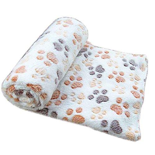 Lidahaotin Weiche warme Haustier-Fleece-Decken-Bett-Matten-Auflage Abdeckungs-Kissen für Hund-Katze-Welpen Tier (Welpe Kissen)