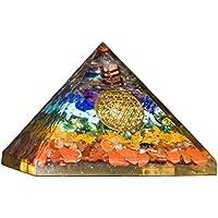 Crocon Sieben Chakra Edelstein Energetische Pyramide mit Kristall Point Metall Blume des Lebens Energy Generator... preisvergleich bei billige-tabletten.eu