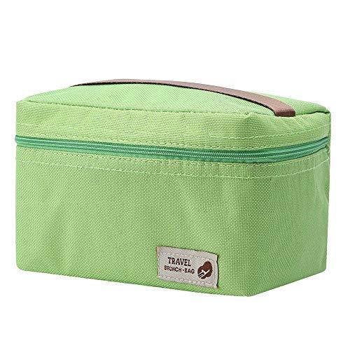 erthome Im Freien tragbare isolierte thermische Kühler Bento Lunch Box Picknick Aufbewahrungstasche Bento Lunch Box Case