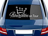 Graz Design 740117_70x27_041G Heckscheiben Auto Aufkleber Autoaufkleber Tuning Prinzessin on Tour Sticker (Größe=70x27cm//Farbe=041 pink)