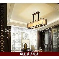 SJUN Stile Cinese Rettangolare Lampada Manuale Semplice Illuminazione In Ferro Battuto (90 * 22 * 70 Cm)