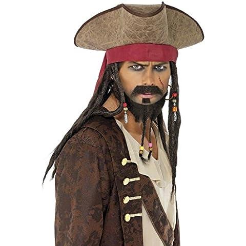 Sombrero de pirata Jack Sparrow bucanero corsario vestuario