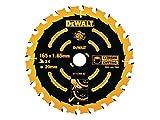 DeWalt Kreissägeblatt für Handkreissägen ohne Spaltkeil (Sägeblatt-ø 165/20, 24WZ, für universellen Einsatz) DT10300
