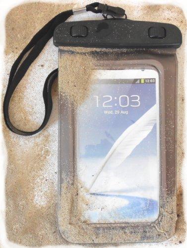 PRESKIN - Wasserfeste Tasche bis 5.7 Zoll Display, Wasserdichte Smartphone Schutzhülle / Handy-Hülle mit Touchscreen Funktion wie Schutzfolie / Displayfolie, Waterproof / water resistant mobile bag / pouch / case für Samsung, Motorola, Sony, Huawei, Apple iPhone, HTC, IPX8 zertifiziert