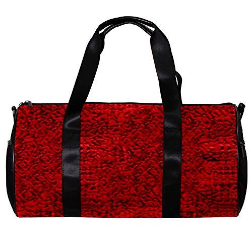 Veckgeng Große Sporttaschen für Männer und Frauen Tasche Sport Reißverschluss Geschenk Damen Sport Duffle Bag Rot Süß 44,7 x 22,9 cm